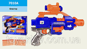 Бластер батар с поролон.снарядами 7010A (24шт 2) в коробке 40*9*30 см, р-р игрушки – 34 см