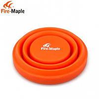 FM FMP 319 стакан складний силіконовий 200мм - оранжевий