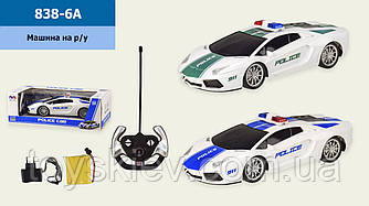 Машина акум. р|у 838-6A (48шт|2) поліція, 2 кольори, в кор. 31*13,5*10,5 см, р-р іграшки– 26*11*7 з