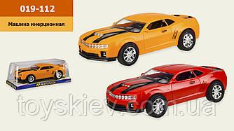 Машина инерц. 019-112 (48шт|2) 2 кольори, під слюдою 30*14.5*11 см, р-р іграшки– 26.5*12*7.5 см