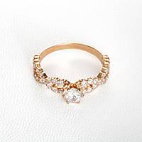 Золотое кольцо для предложения руки и сердца КП21091