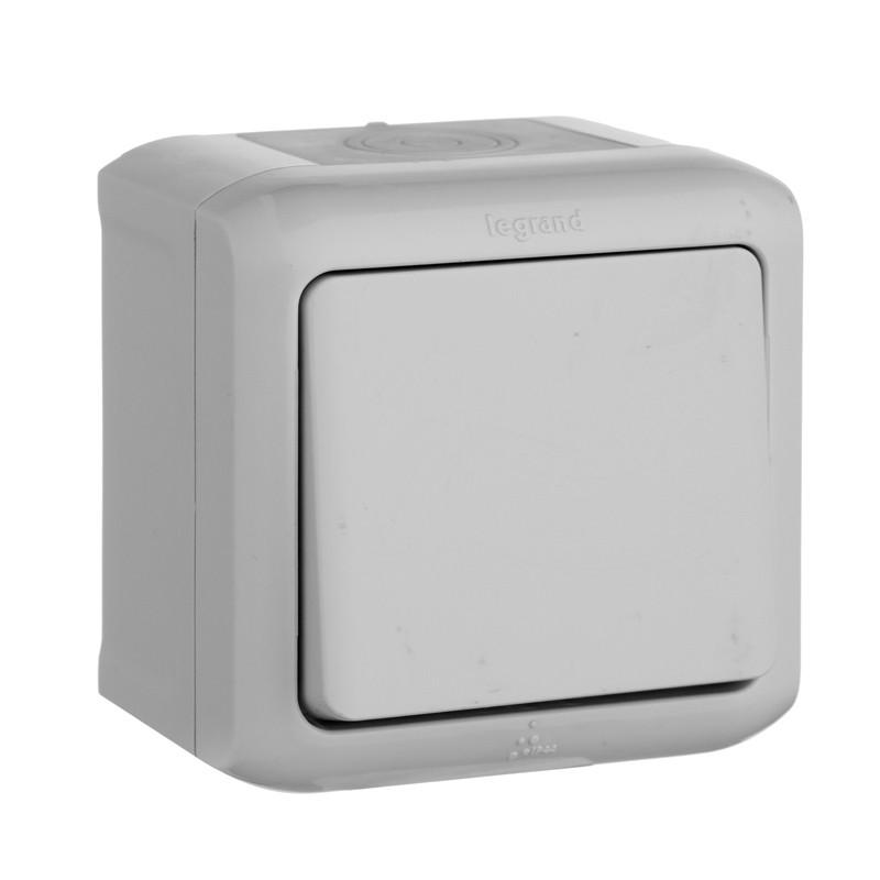 Переключатель 1-клавишный Forix IP44 серый