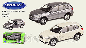 """Машина метал 39890CW (48шт 2) """"WELLY""""1:32 BMW X5,откр.двери,2 цвета,в кор.18*8*8 см, р-р игрушки – 1"""
