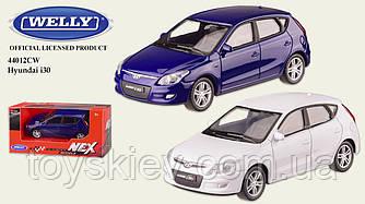 """Машина метал 44012CW (72шт 3) """"WELLY""""1:43 HYUNDAI I30,2 цвета,в кор.13*6*5,5см, р-р игрушки – 10*4*3"""
