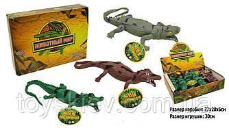 Животные резиновые-тянучки 7206 (432шт|2)Крокодилы,12 шт.в боксе |цена за 1 шт| 3 вида,27*20*6см, иг