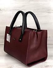 Вместительная женская сумка с короткими ручками Aliri-56107 бордовая