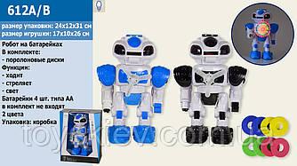 Робот батар 612A|B (24шт|2)2 кольори,світло,звук,в кор.24*12*31см