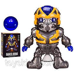 Робот батар. 696-58(96шт|2) світло,звук,в кор. 15*8.5*20 см, р-р іграшки– 18*7*17.5 см