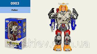 Робот на батар. 0903 (36шт|2) світ, в кор. 11.5*18,5*30см, р-р іграшки– 15*8*17 см
