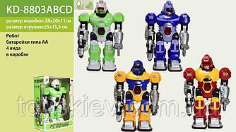 Робот на батар. KD-8803A|B|C|D (36шт|2) 4 види, в кор. 28*20*11см, р-р іграшки - 25*15.5*10 см