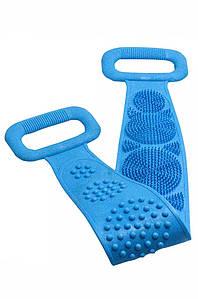 Двусторонняя силиконовая мочалка-массажер для тела Silica Gel Bath Brush Silica Gel Bath Brush 131997P