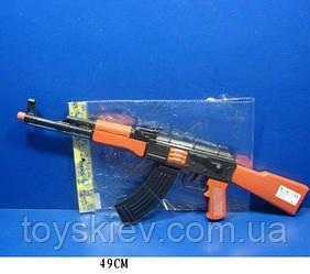 Автомат-трещетка AK47-112 (144шт|2) в пакете 49 см