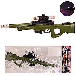 Оружие  999S-17A (144шт|2)свет,звук, в пакете 18*44 см, р-р игрушки – 37 см