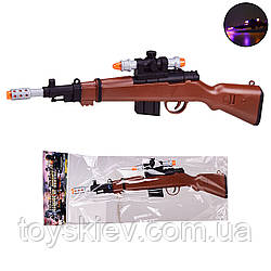 Оружие  999S-18A (144шт|2) свет,звук,в пакете 18*44 см, р-р игрушки – 38 см