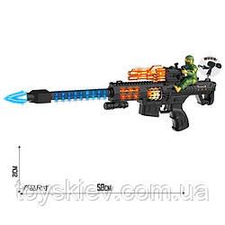 Оружие батар. 1080-4 (72шт|2) свет,звук,  в пакете.  58*21см