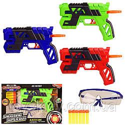 Бластер 1218 (48шт 2) стріляє пороллон снарядів., 3 кольору, в коробці - 33*6*22 см, р-р іграшки – 21 см