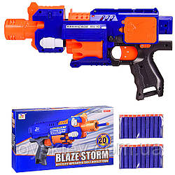 Бластер 7053 (36шт 2) стріляє поролон.снарядами, в коробці 34*8.5*20.5 см, р-р іграшки – 33.5 см