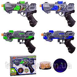 Бластер батар. RF226C|RF227C (108шт|2),свет,звук, 2 вида, 2 цвета,. кор.26,5*19,5*4см