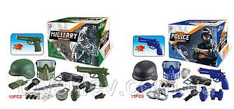 Ігровий набір CH810A-5|CH810B-5(48шт|2)2вида: військовий і поліц. набір, 13элементов в комплекті, кас