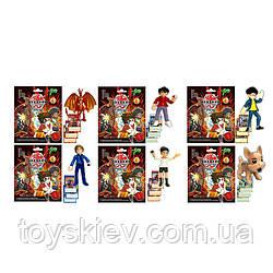 Герои 35301 (720шт 2) Bacugan, 1 герой+карточки в пакете, 6 видов, р-р упаковки 12*15см