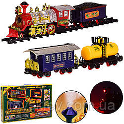 Железная дорога 2225 (8шт)батар.,реал. звуки,дым,поезд+3 вагона,в коробке 64*43*10см