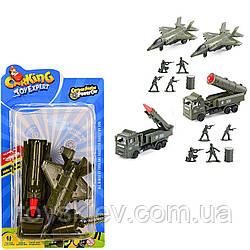Військовий набір инерц. TH-P061|3(144шт|2)2вида, літак+військов. машина в комплекті, на планш. 25*14см