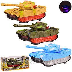 Танк батар 6307 (72шт 2) 3 кольори, світло, звук, кор 24.5*10.5*11 см, р-р іграшки– 22*8.5*8.5 см