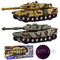 Танк инерц KLX700-3A KLX700-4A (48шт) 2 види мікс, світло, звук, кор 28*14*12 см, р-р іграшки – 18*8