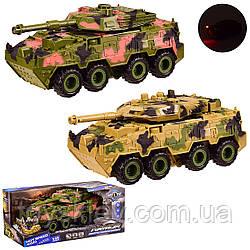 Танк инерц KLX700-9A KLX700-10A (36шт) 2 види мікс, світло, звук, кор 29,5*15*13,5 см, р-р іграшки –