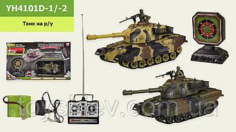 Танк акум.на р у YH4101D-1 -2 (12шт 2) мікс в ящику - 2 кольори, тир в компл,світло,звук, в кор. 50*15,