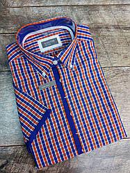 Мужская рубашка в клетку с коротким рукавом