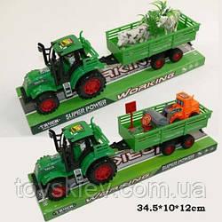 Трактор инерц 1035-7|9 (72шт|2) 2 вида, под слюдой 34,5*10*12см