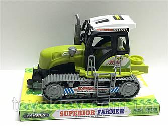 Трактор инерц. 668 (72шт|2) под слюдой  22*14*15см