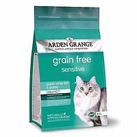 Arden Grange Sensitive ocean white fish/potato Корм для кошек с океанической рыбой и картофелем 0.4 кг