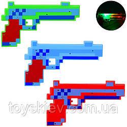 Оружие MW2221 (240шт 2) свет, звук, 3 цвета, в пакете - 17.5*29 см, р-р игрушки – 25.5*1.5*14.5 см