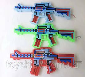Оружие MW2228 (144шт 2) свет, звук, 3 цвета, , лазер, 39*17 см в пакете