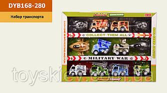 Набір транспорту инерц. DYB168-280(72шт|2)12 машинок в комплекті, в кор. 26*4*19,5 см, р-р іграшки