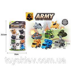 Набір транспорту инерц. Army DYB168-263B(96шт|2)8машинок в комплекті,на планш. 33,5*19см