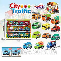 Набір транспорту инерц. City Traffic DYB168-279(72шт|2)12машинок в комплекті, в кор. 19,5*26*3,8 см