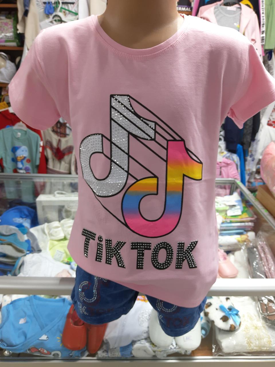 Підліткова футболка для дівчинки TikTok р. 134 140 152 158