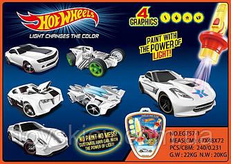Машина метал. EG757-1 (144шт|2) 6 видів, змінює колір, на планшетці 21*25,5 см