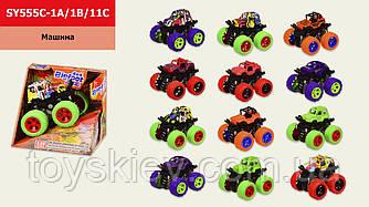Машина инерц. SY555C-1A 1B 1C (96шт 2) 12 видів, в коробці 12.5*10*11 см, р-р іграшки– 9*8.5*7.5 см