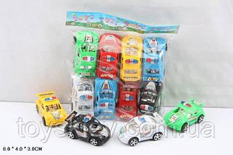 Машина инерц. 383G (144шт|2) 6 кольорів, 8шт. в наборі, р-р машинки 8*4*3см, в пакеті