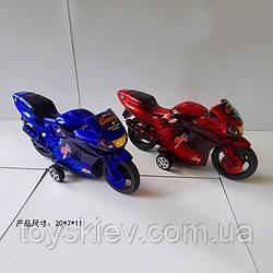 Мотоцикл 102(144шт 2)2вида, в пакете 20*7*11см