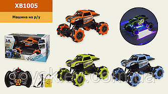 Машина акум р у XB1005 (24шт 2) 3 кольори,1:16, функція бічній їзди, танцює, світло,звук, в кор. 32.