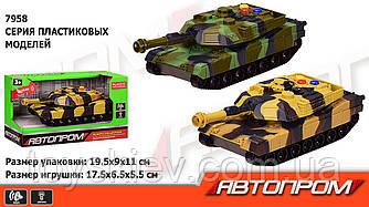 """Танк батар 7958 (96шт 2) """"АВТОПРОМ"""", 2 кольори, світло,звук,в кор.19,5*9*11см"""