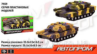 """Танк батар 7959 (36шт 2) """"АВТОПРОМ"""", 2 кольори, світло,звук,в кор.29,5*12*15,5 см"""