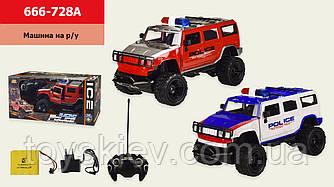 Машина акум. р|у 666-728A (1713076) (16шт) Поліція, 2 кольори,світло, в кор. 42*19*20 см, р-р іграшки –