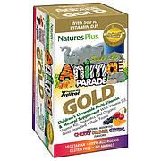 Мультивитамины для Детей, Вкус Ассорти, Animal Parade Gold, Natures Plus, 60 жевательных таблеток
