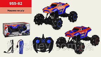 Машина аккум.р у 955-82 (12шт 2) 2 цвета, на ролик.колесах,звук,танцует,р-р упаковки – 38*23*18 см,